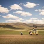Mongol Rally Pirate Pulling Suzuki