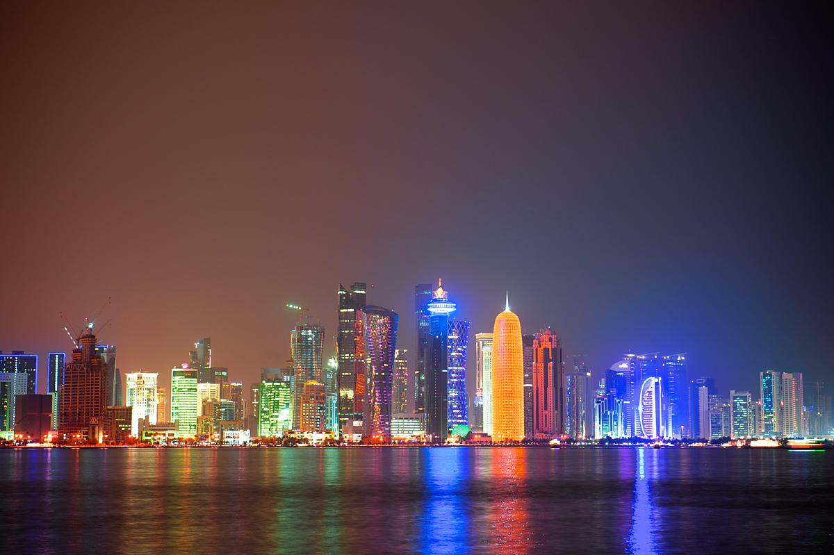 Qatar Doha night city s