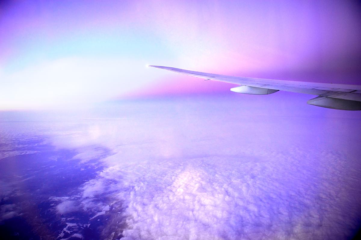 Qatar airways flight over Iraq s