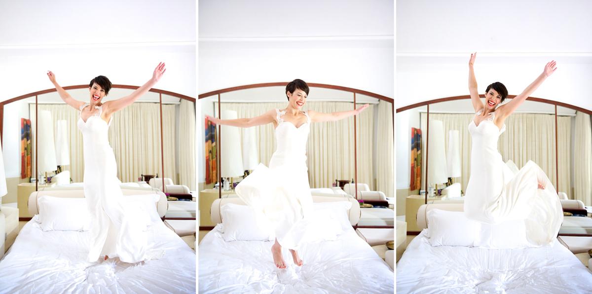 Phulay Bay Krabi Wedding dress jump