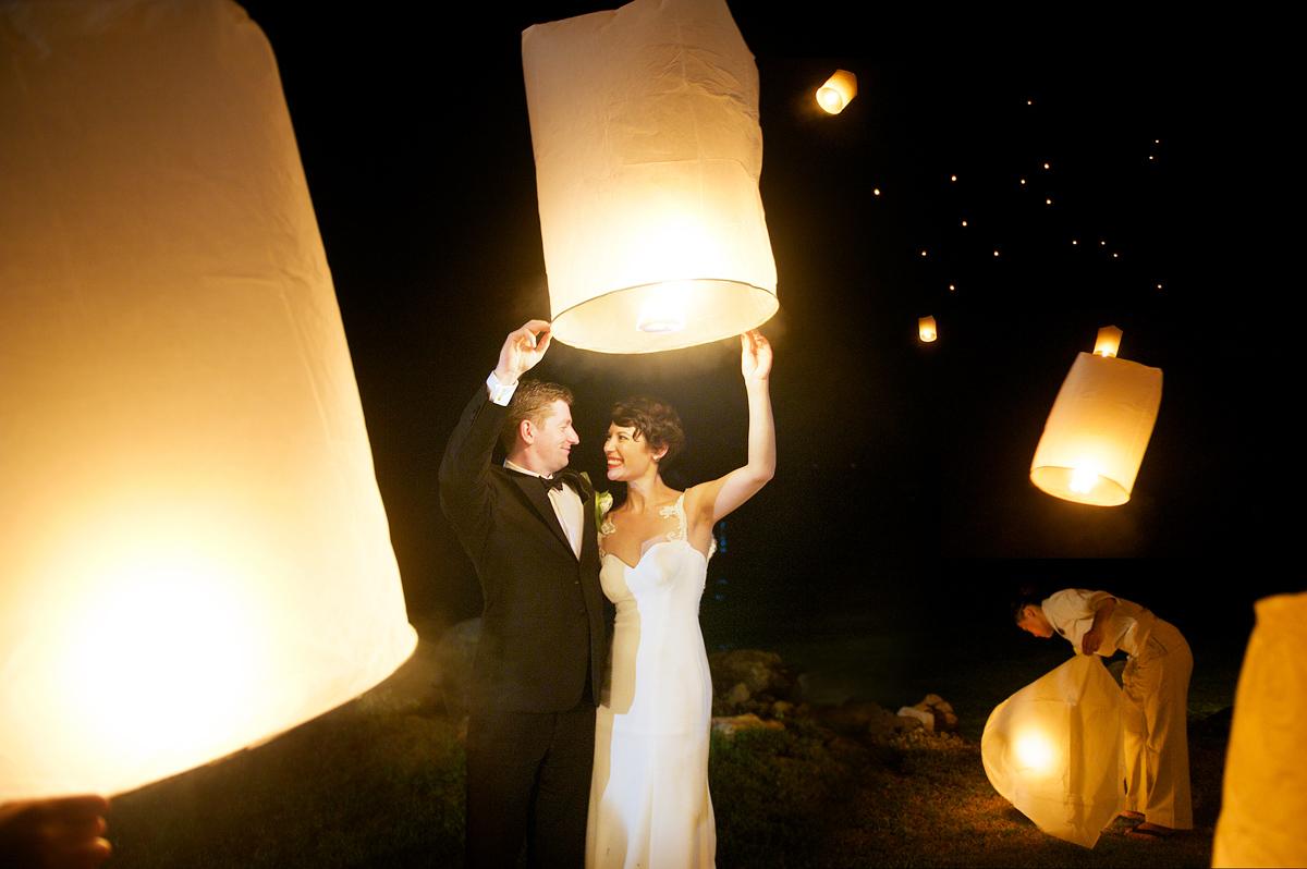 Phulay Bay Krabi Wedding lanterns