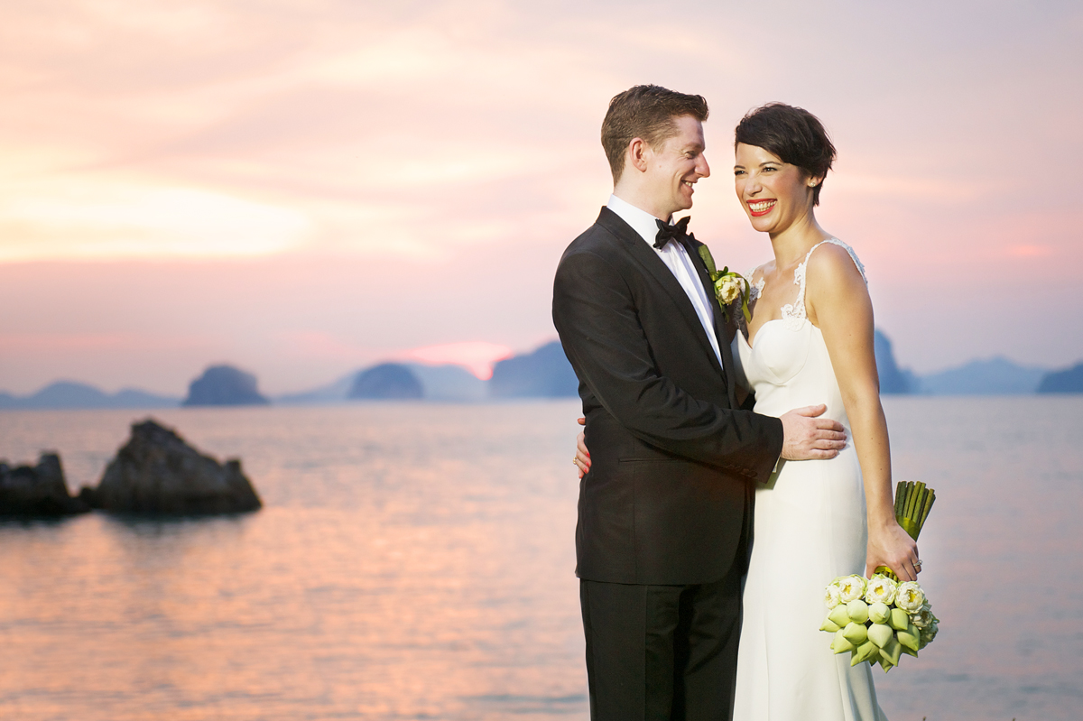 Phulay Bay Krabi Wedding sunset 3