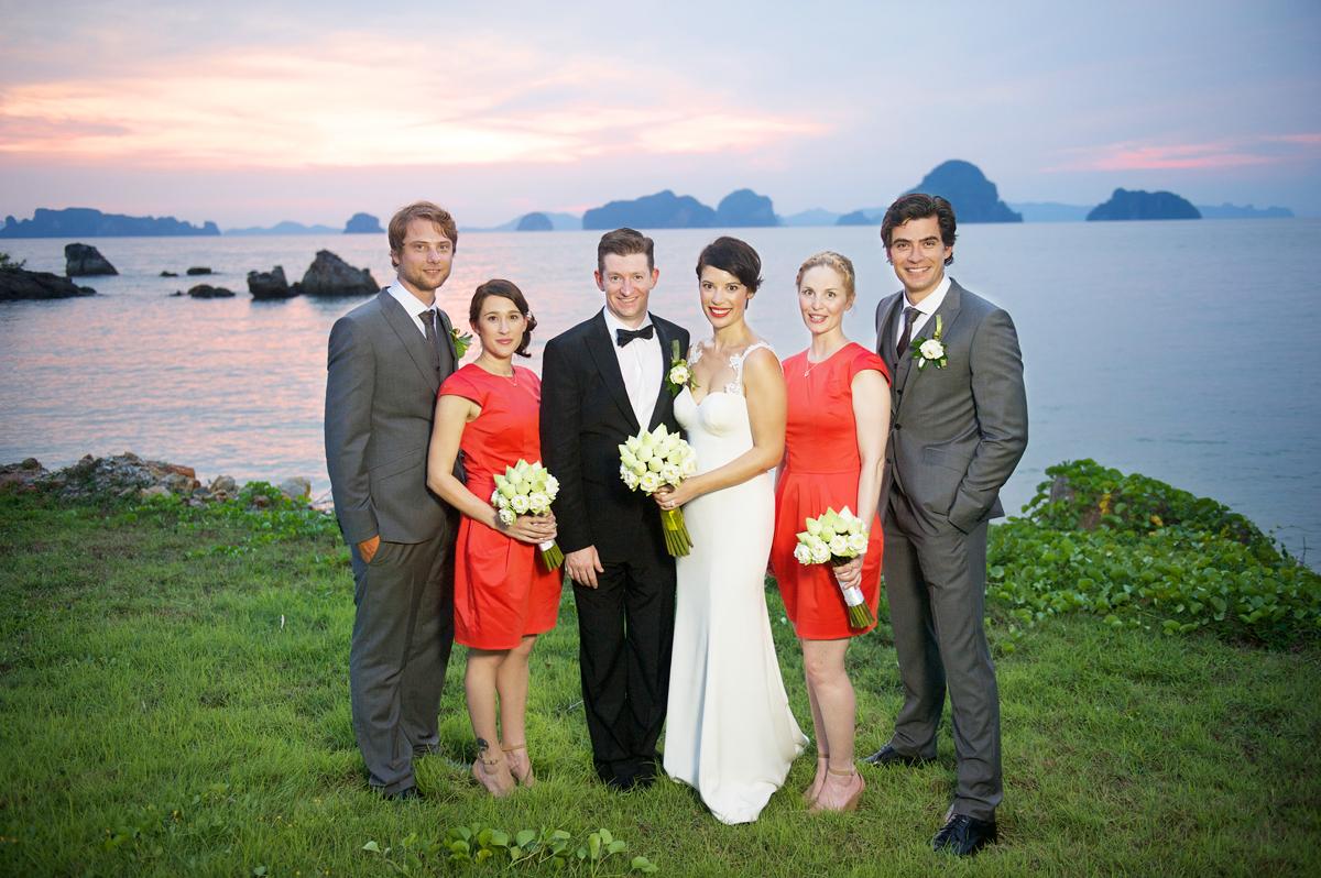 Phulay Bay Krabi Wedding sunset 4