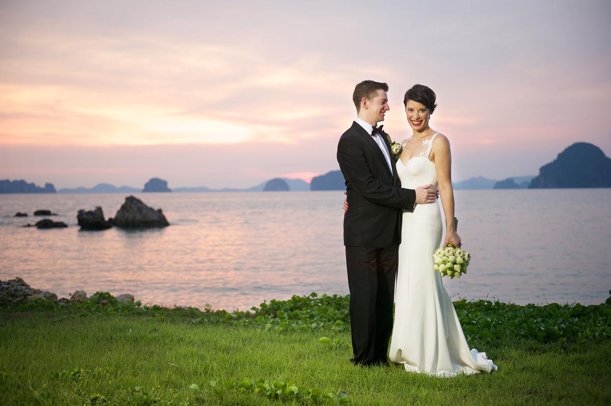 Phulay Bay Krabi Wedding sunset