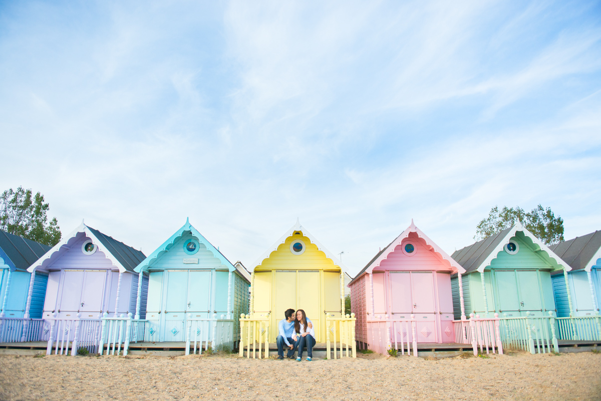 Mersea Beach wedding engagement photos-8