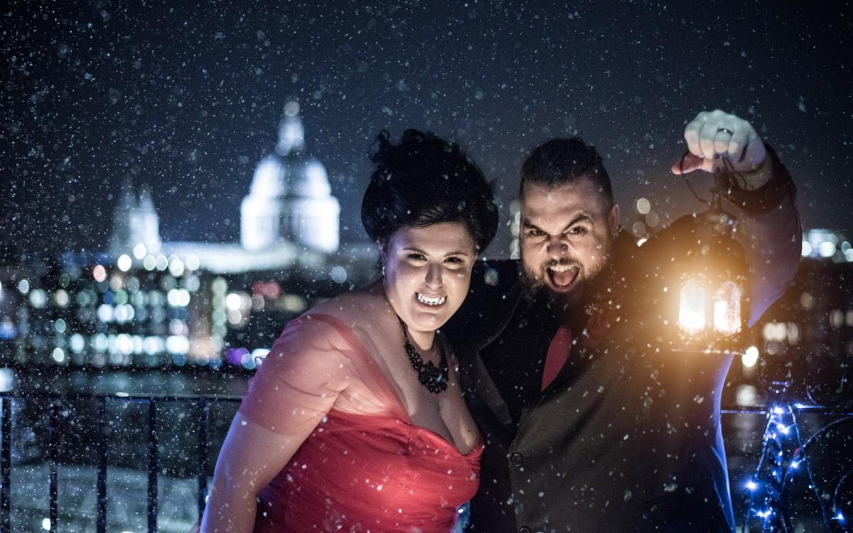 Halloween themed wedding - Shakespeare Globe - Jenna & Mike